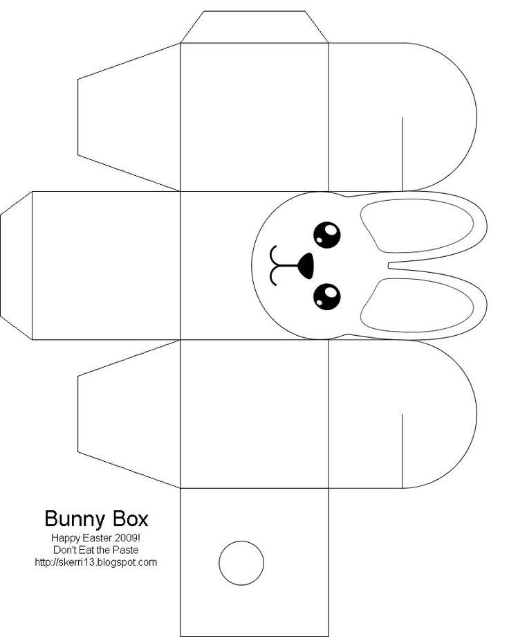 Box Templates Free Printable Easter Box Easter Bunny Easter Crafts for Kids Free