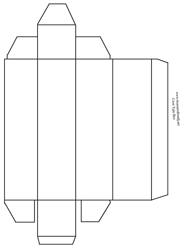 Box Templates Free Printable Rectangle Box Template