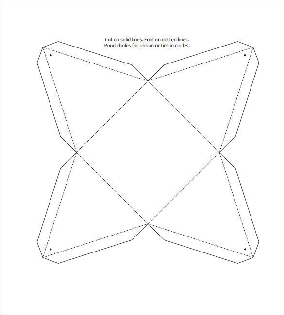 Box Templates Free Printable Triangle Box Template – 15 Free Sample Example format