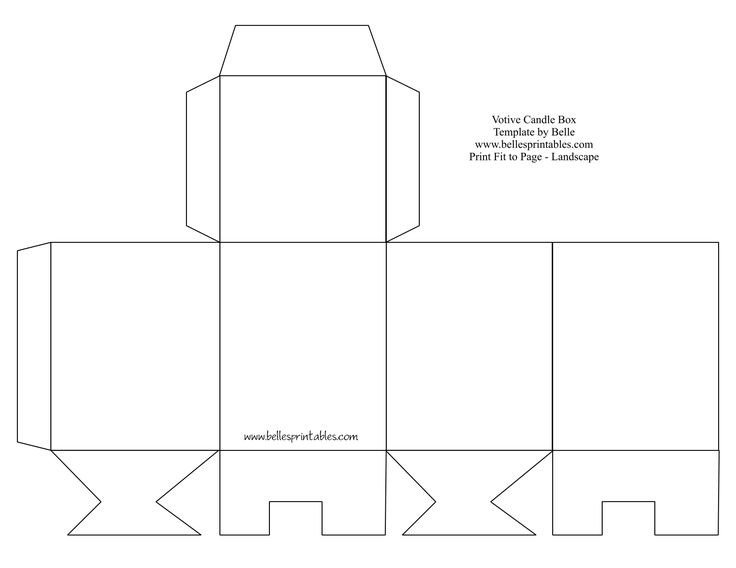 Box Templates Free Printable Votive Candle Box Needs Changing the Bottom Does Not
