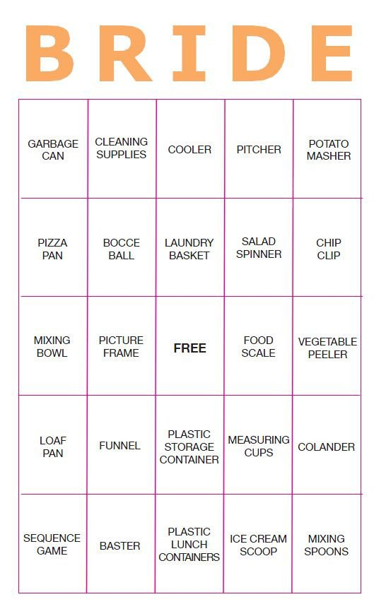 Bridal Bingo Free Template Blank 11 Free Printable Bridal Showers Bingo Cards