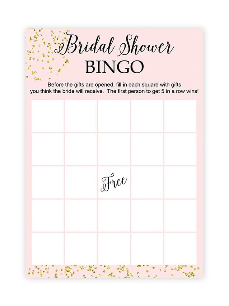 Bridal Bingo Free Template Blank Best 25 Bridal Shower Bingo Ideas On Pinterest