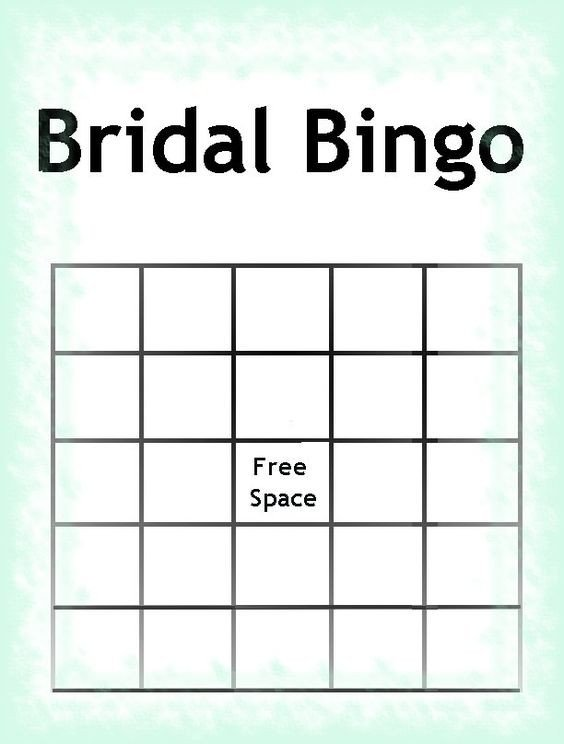 Bridal Bingo Free Template Blank Free Printable Bridal Shower Invitations