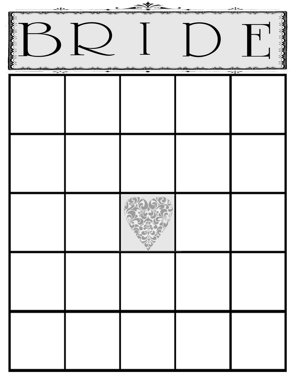 Bridal Bingo Free Template Blank the Creative Pointe A Beautiful Bridal Shower and A