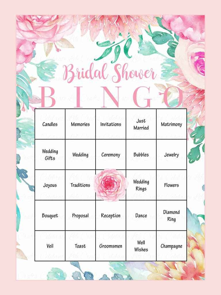 Bridal Shower Bingo Template 10 Printable Bridal Shower Games to Diy