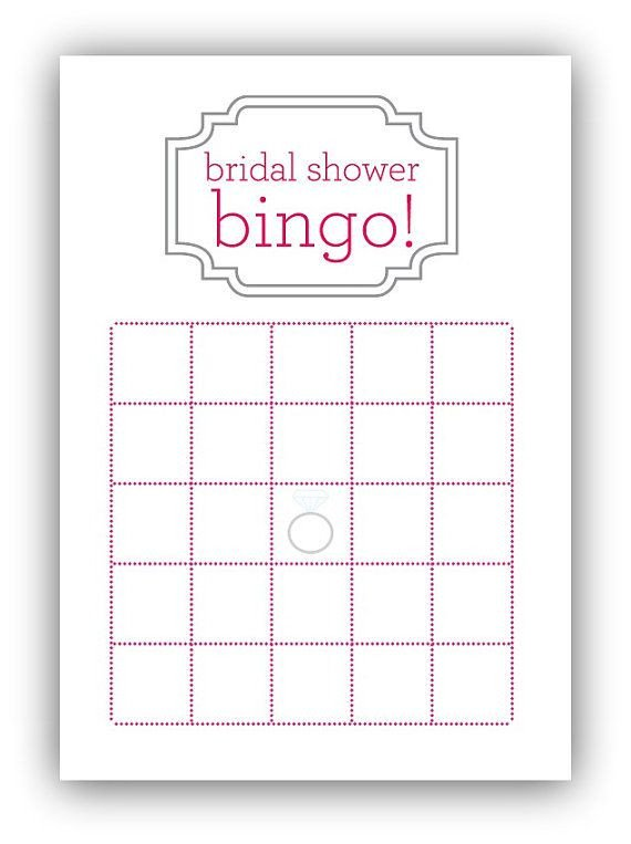 Bridal Shower Bingo Template Bridal Shower Bingo Card by Gracefully Made Designs On