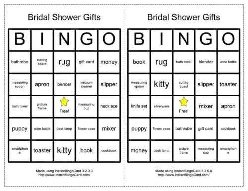 Bridal Shower Bingo Template Classic Bridal Shower Games Inspired Bride