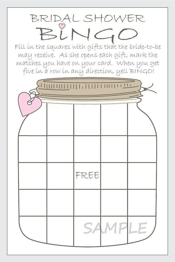 Bridal Shower Bingo Template Diy Bridal Shower Bingo Printable Cards by