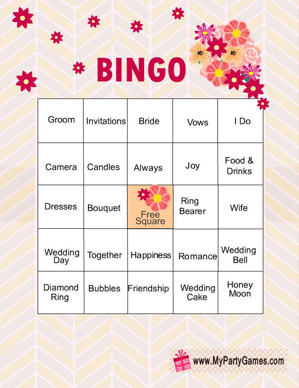 Bridal Shower Bingo Template Free Printable Bridal Shower Bingo Game Cards
