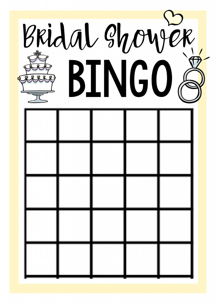 Bridal Shower Bingo Template Free Printable Bridal Shower Games – Fun Squared