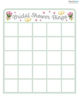 Bridal Shower Bingo Template Unique Bridal Shower Games