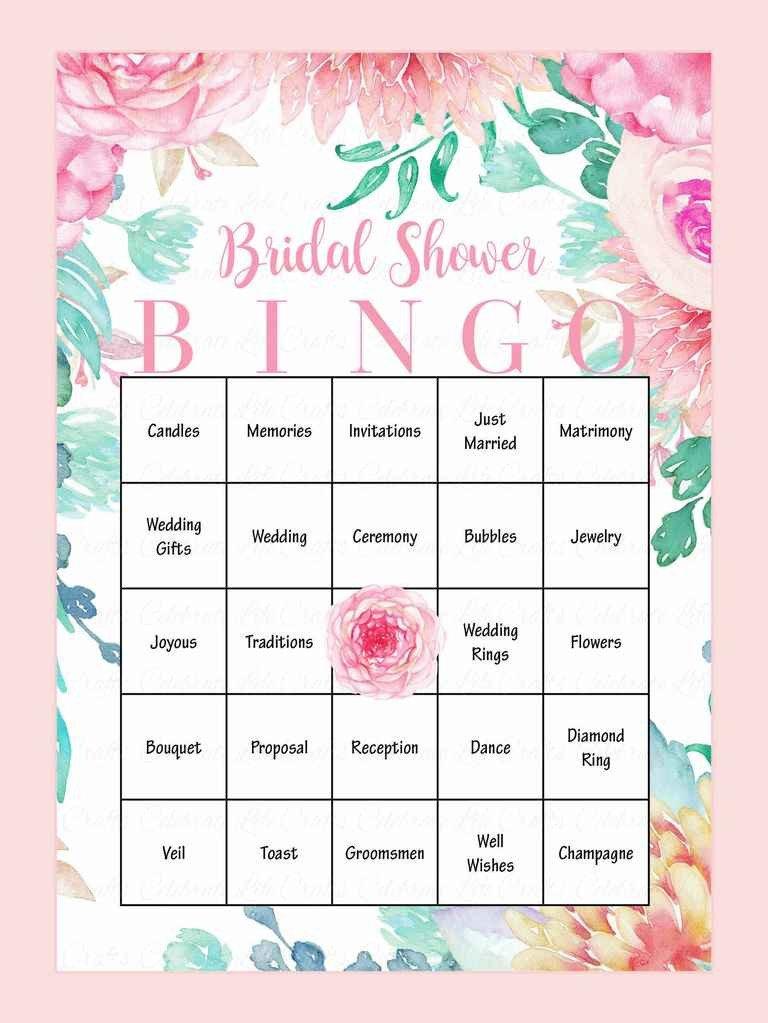 Bridal Shower Bingo Templates 10 Printable Bridal Shower Games to Diy