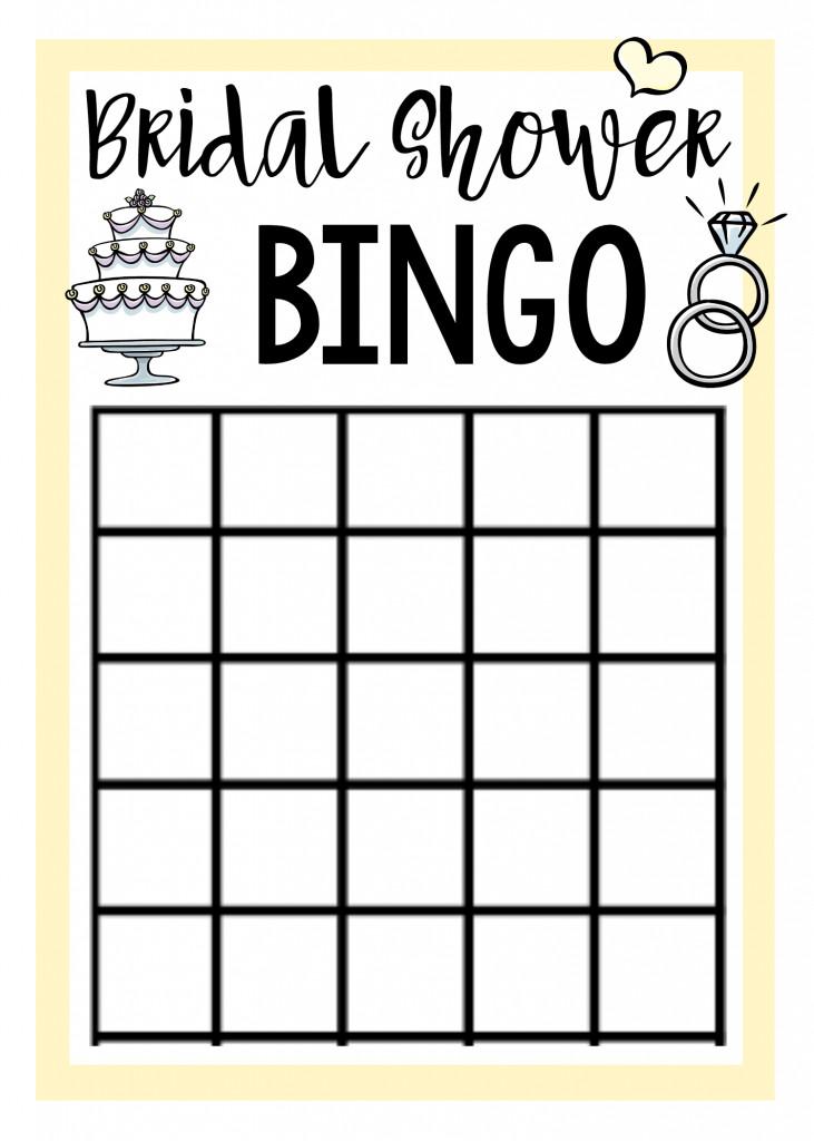 Bridal Shower Bingo Templates Free Printable Bridal Shower Games – Fun Squared