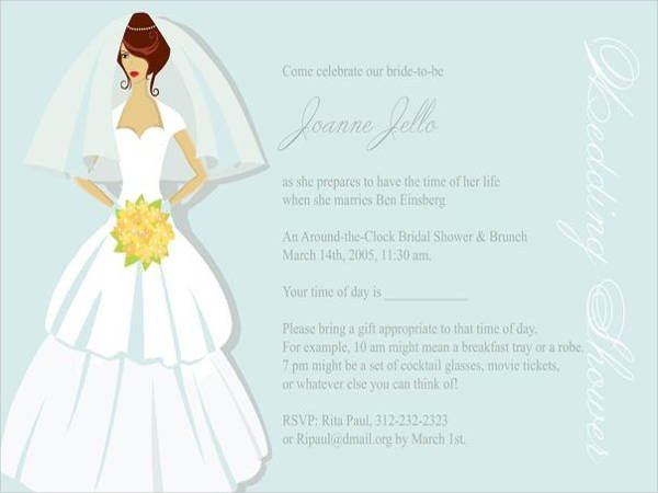 Bridal Shower Card Template 11 Bridal Shower Invitation Templates