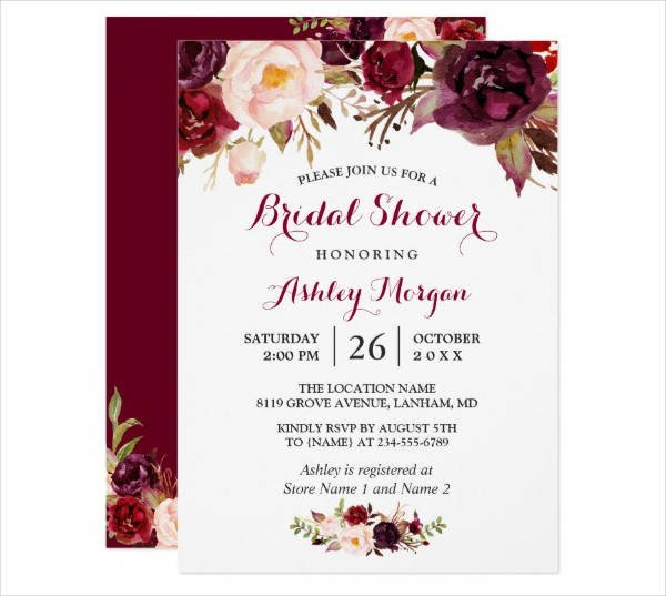 Bridal Shower Card Template 14 Bridal Shower Card Designs & Templates Psd Ai