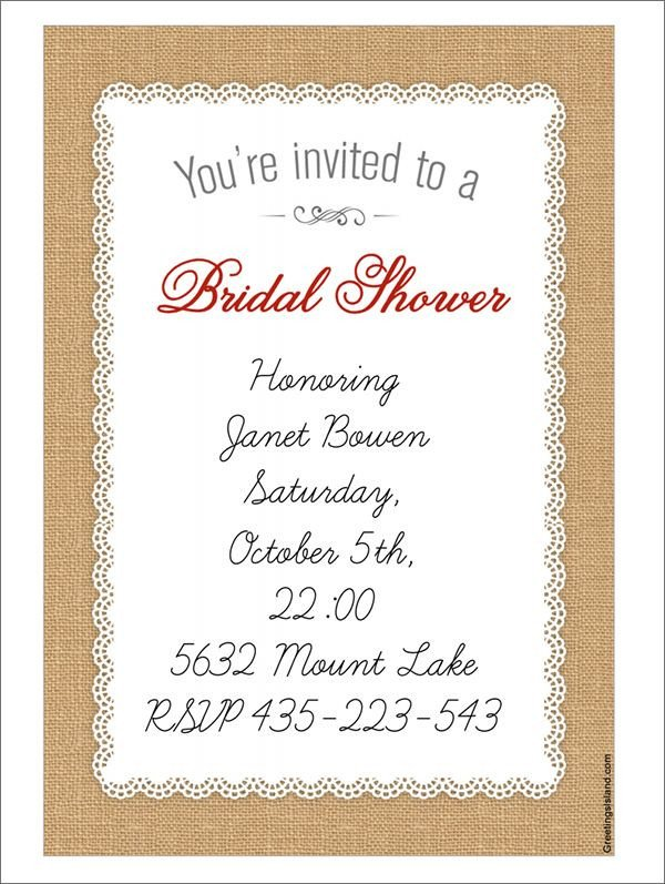 Bridal Shower Card Template 22 Free Bridal Shower Printable Invitations