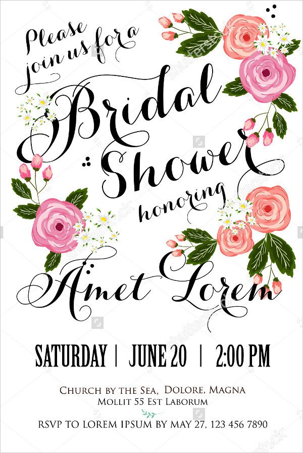 Bridal Shower Card Template 23 Bridal Shower Invitation Templates Psd Vector Eps