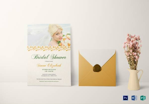 Bridal Shower Card Template 33 Best Bridal Shower Invitation Templates Word Psd Ai
