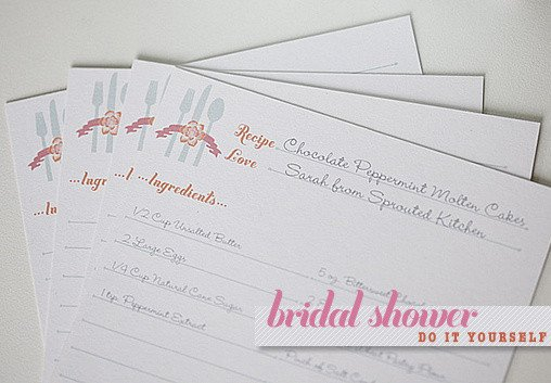 Bridal Shower Card Template Blog Bridal Shower Recipe Cards Template