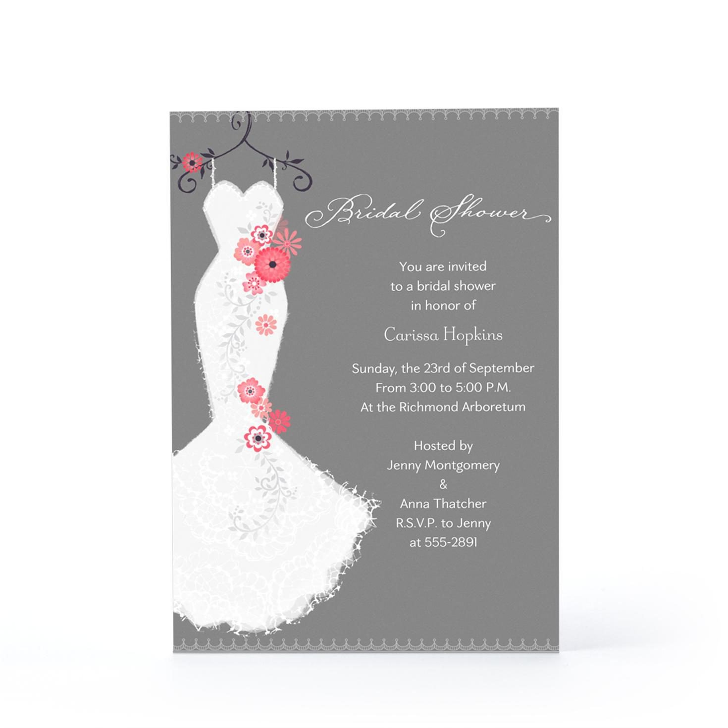 Bridal Shower Card Template Bridal Shower Invite Bridal Shower Invite Wording Card