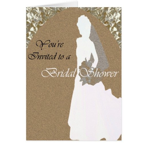 Bridal Shower Card Template Bridal Shower Note or Greeting Card Template