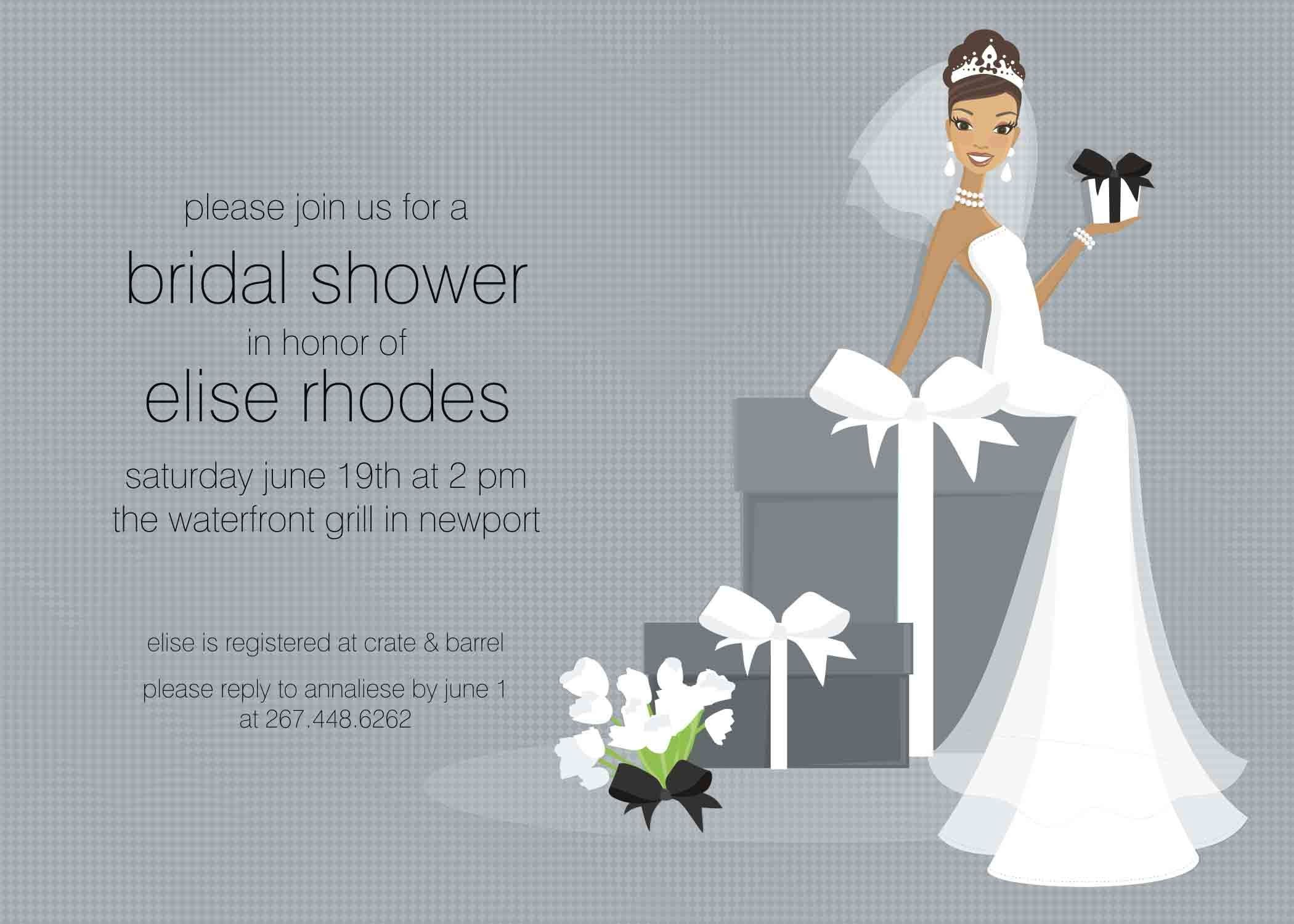 Bridal Shower Card Template Free Bridal Shower Invitation Templates