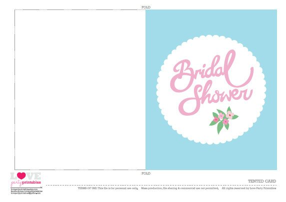 Bridal Shower Card Template Free Bridal Shower Party Printables From Love Party