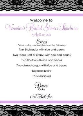 Bridal Shower Menu Template 382 Best Images About Bridal Showers On Pinterest
