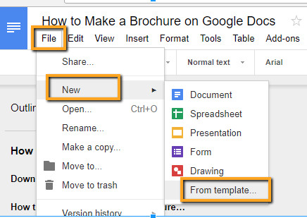 Brochure Template for Google Docs How to Make A Brochure On Google Docs In Two Ways