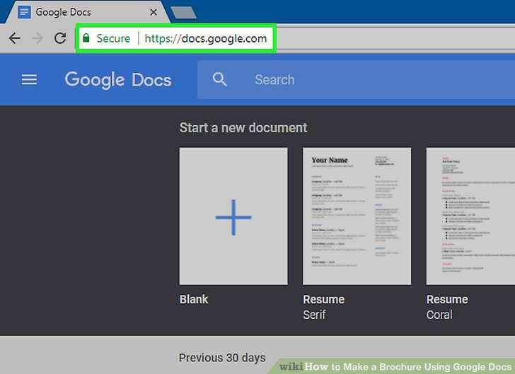 Brochure Template for Google Docs How to Make A Brochure Using Google Docs Wikihow