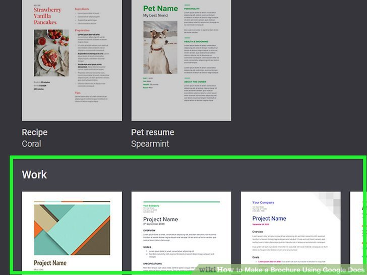 Brochure Template for Google Docs How to Make A Brochure Using Google Docs with
