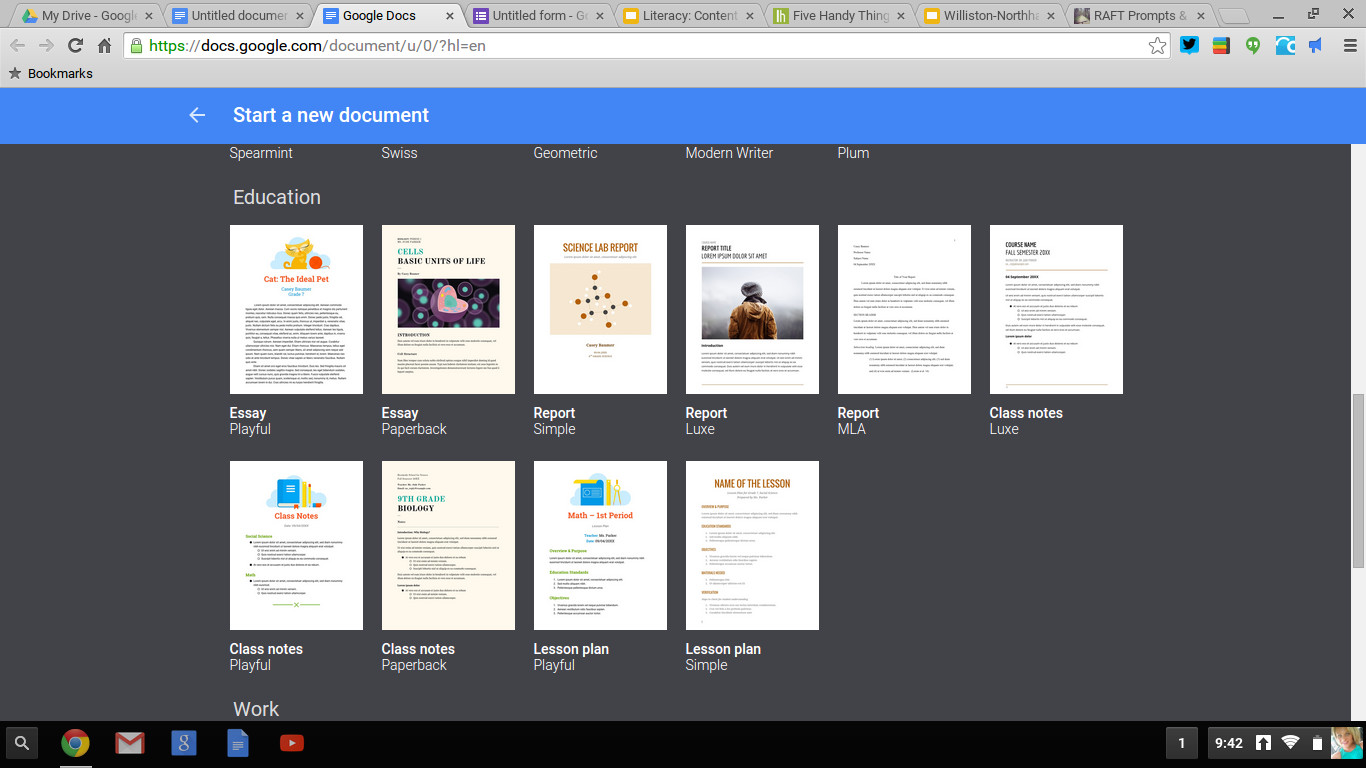 Brochure Template Google Doc A Google Refresh Just In Time for School 3 New Updates to