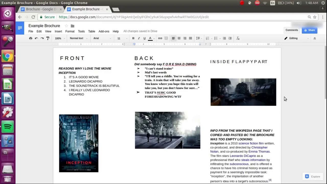 Brochure Template Google Doc How to Make A Brochure On Google Docs