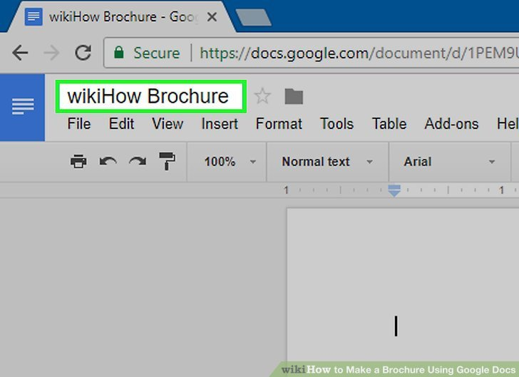 Brochure Template Google Doc How to Make A Brochure Using Google Docs with