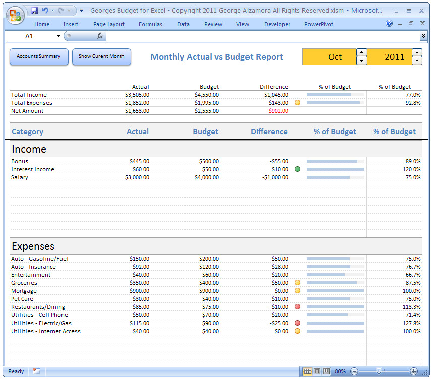 Budget Templates for Excel Personal Bud Ing software Excel Bud Spreadsheet