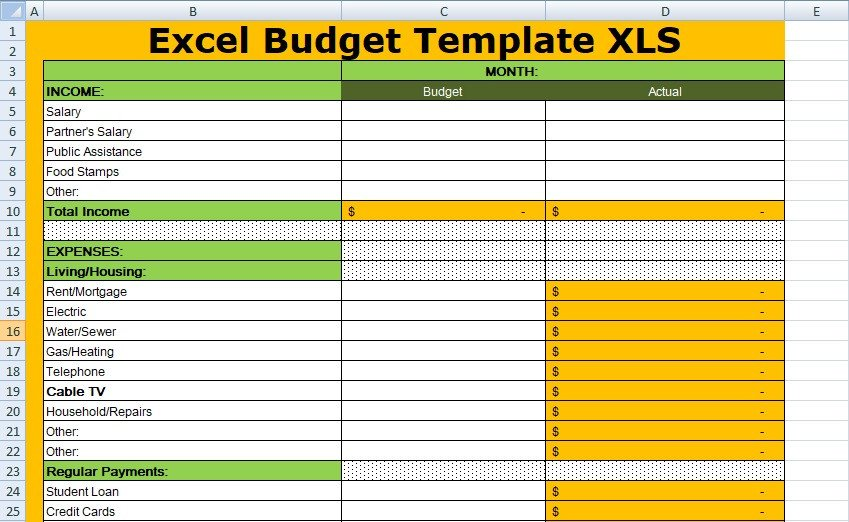 Budgeting Templates In Excel Free Excel Bud Template Xls