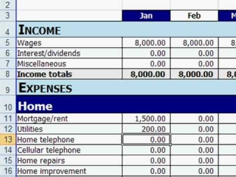 Budgeting Templates In Excel Free Excel Personal Bud Template