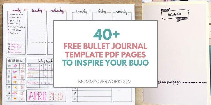 Bullet Journal Free Printables 100 Motivational Habit Tracker Ideas Unique Spreads
