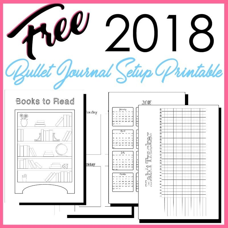 Bullet Journal Free Printables 2018 Bullet Journal Setup Free Printable the Petite Planner