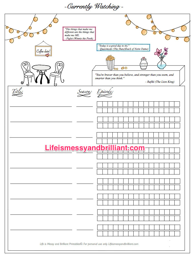 Bullet Journal Free Printables Free Bullet Journal Printables