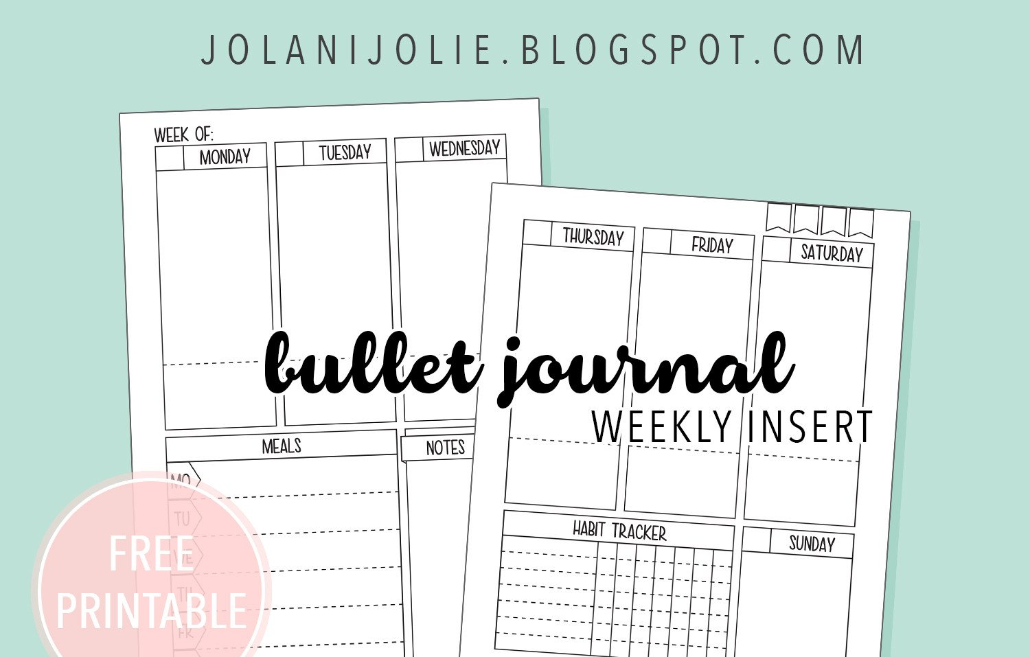 Bullet Journal Free Printables Free Printable Bullet Journal On Two Pages Jolani Jolie