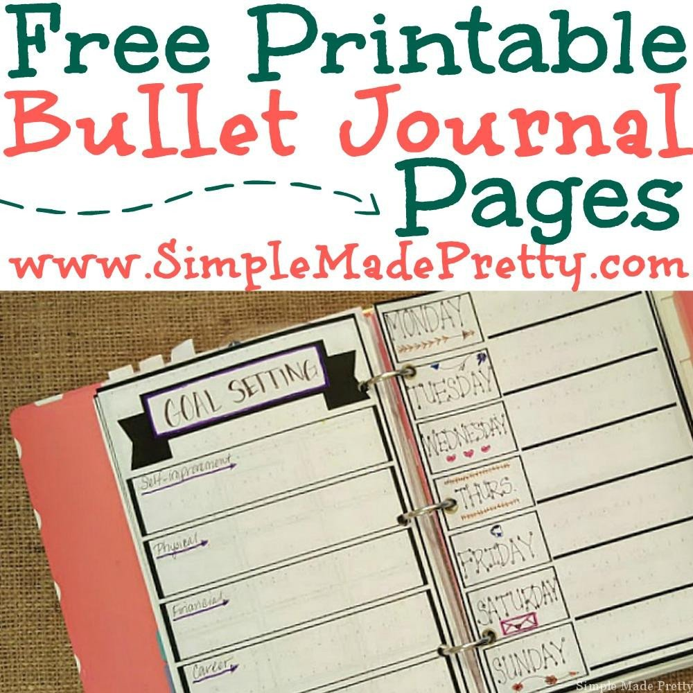 Bullet Journal Free Printables Free Printable Bullet Journal Pages Simple Made Pretty