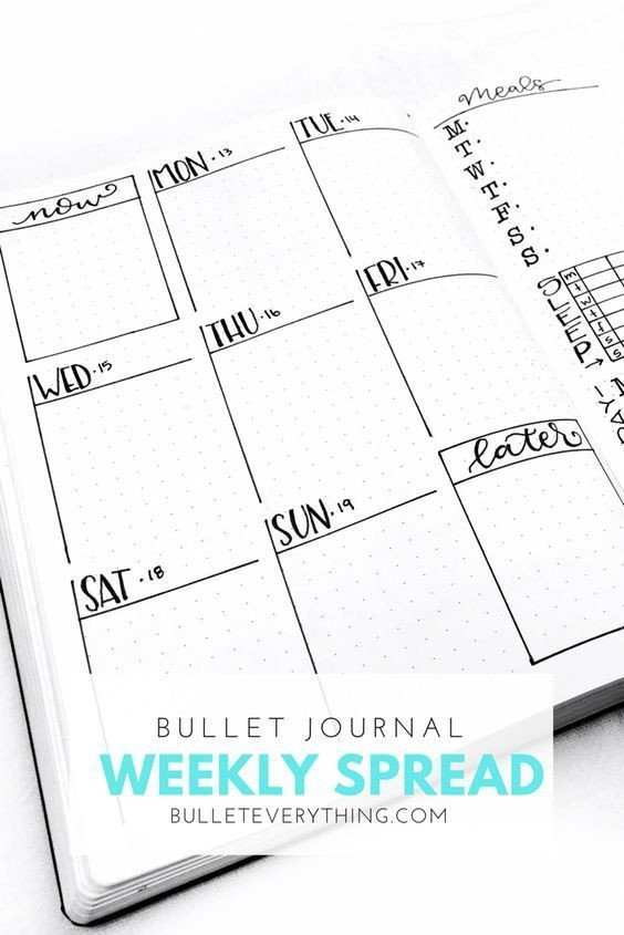 Bullet Journal Layout Templates 15 the Best Weekly Bullet Journal Layouts the