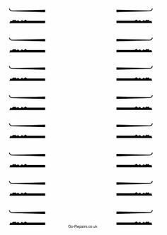 Bump Key Templates Download Rake Lock Pick Templates Lock Pick Templates Printable