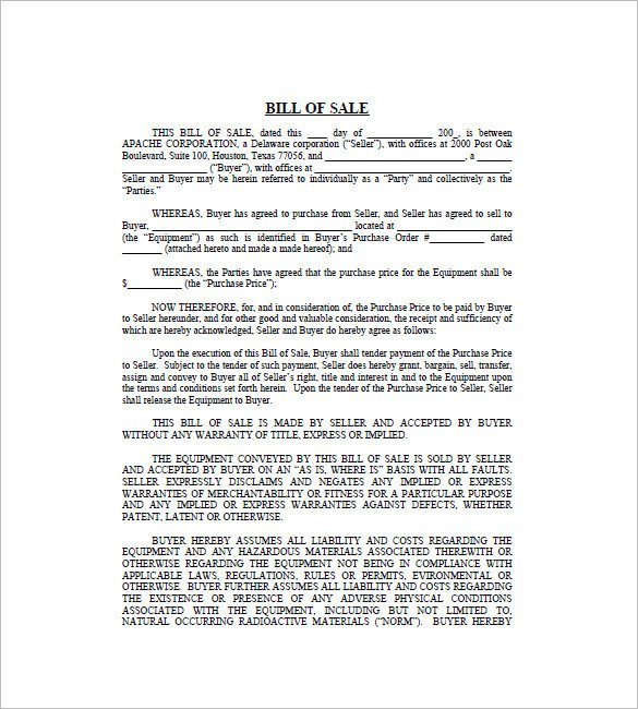 Business Bill Of Sale Business Bill Of Sale 7 Free Word Excel Pdf format
