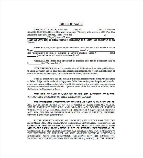 Business Bill Of Sale Business Bill Of Sale 7 Free Word Excel Pdf format