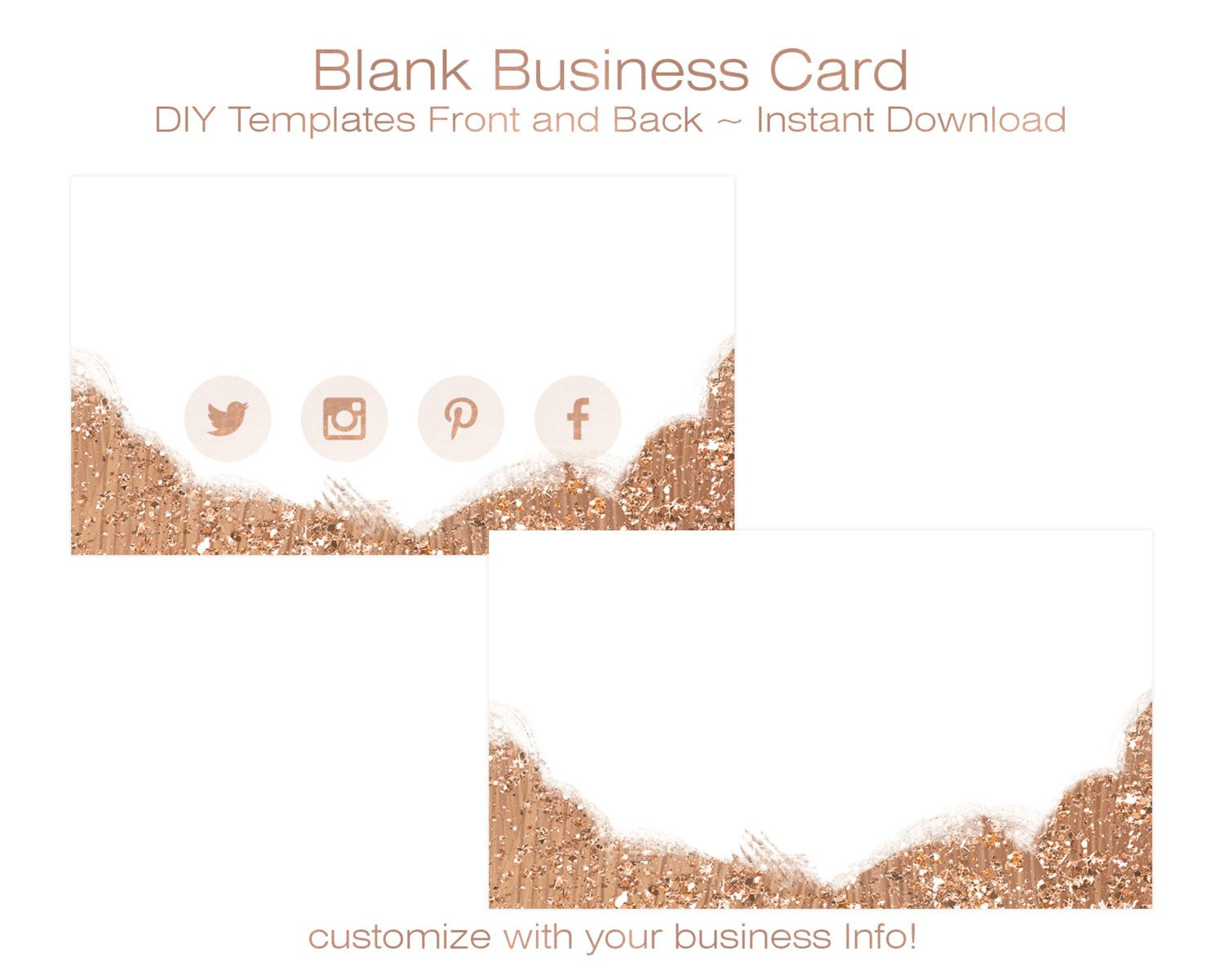 Business Card Blank Template Business Card Template Diy Blank Business Card Standard Size