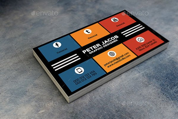Business Card social Media 13 social Media Business Card Templates Psd Word Ai