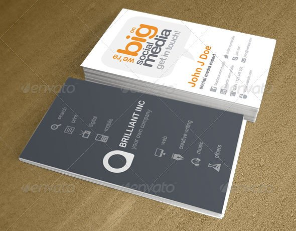 Business Card social Media 20 Creative Business Card Templates that Help You Stand