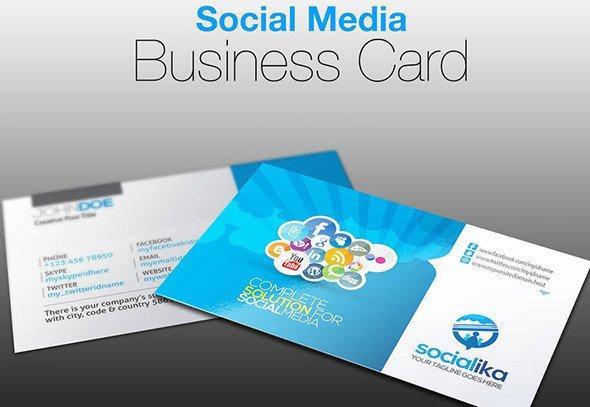 Business Card social Media 24 Nice social Media Business Card Psds – Design Freebies